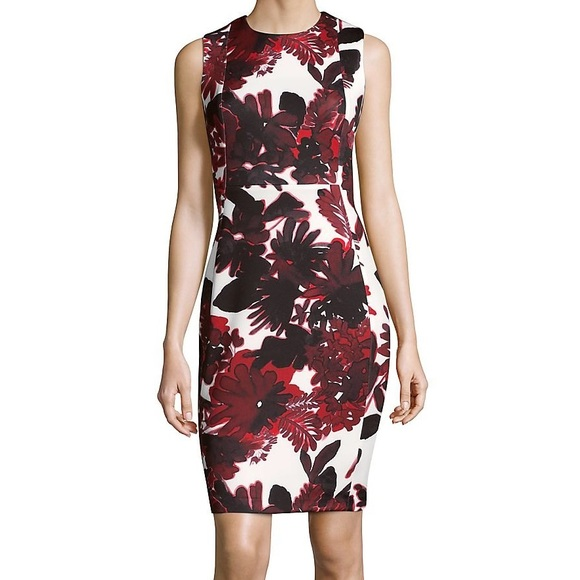154f6890 Calvin Klein Dresses | Nwt Floral Sheath Dress | Poshmark